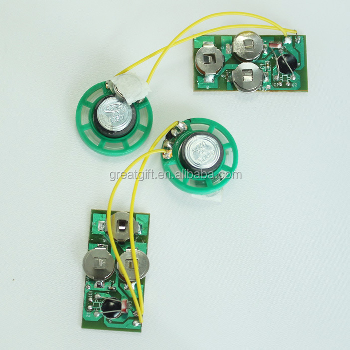 how to make a sound module for greeting card