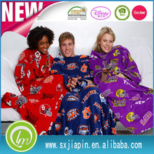 Alibaba china new products cozy adult tv blanket with sleeves