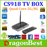 Quad core android 4.4 tv box M8 support bluetooth 4.0, 4K*2K, XBMC, 2G+8G smart android 4.4 M8 payment accept