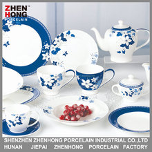 Bone china 113pcs gold and color dinner set