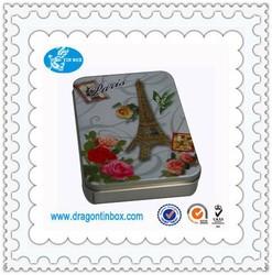 Alibaba China manufacturer square printing postcards tin boxes