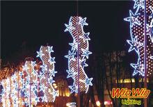 2014 nuevo producto del festival al aire libre colgando estrella vertical de iluminación decorativa