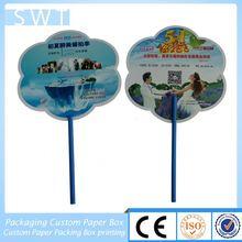 2012 butterfly-shape advertising plastic fan