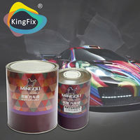 KINGFIX solid colors good appearance car paint with high-performance hardener