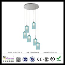 modern colorized glass pendant light