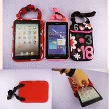 7,8,9,9.7,10 inch universal tablet case kids shoulder shockproof bag for ipad mini wholesale