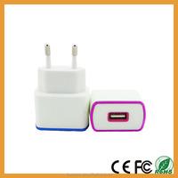 Wholesale EU Plug USB Home Charger Travel Adapter 1200mah high quality decorative design