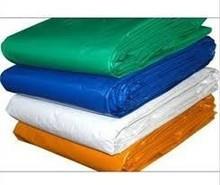 Factory Pirce PE Tarpaulin Blue Color Top Side Green Color Bottom Side