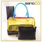 Avon auditoria designer mulher senhora bolsas de mão personalizado limpar bolsas de pvc