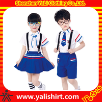Wholesale high quality custom made kindergarten school uniform for boys and girls
