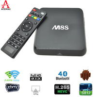 Android 4.4 Kitkat OS Quad Core mini tv box M8S support H.265 ultra HD from Acemax
