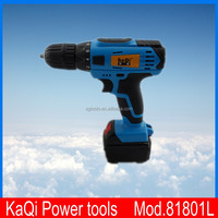Kaqi power tools Mini 18 volt power display function with lithium cordless drill