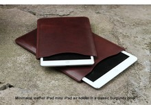 100% genuine leather bag ,wholesale cow leather Tablet Case, leather case for ipad