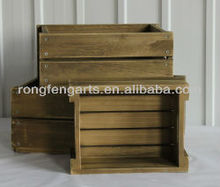 Sedex Audited Factory wooden bar crate / wood basket