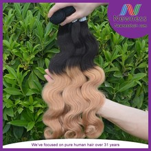Hot Sale 2015 No Smell No Shedding No Synthetic Two Toned Hair Weave Body Wave