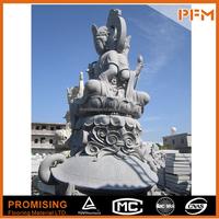 hand carving natural marble stone made Chinese buddha kuan yin statue