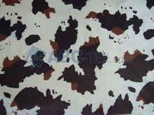 2012 HOT SELL A126 velboa Cow animal print faux fur fabric