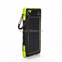 Solar charger China supplier, 8000 / 5000mah waterproof solar mobile power bank