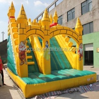 inflatable candy cane decorated bounce house