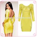 euro estilo country feminino sexy vestido de noite amarelo