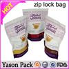 Yason ziplock mini bags shinning red yellow ziplock tear notch pouches zipper lock bag