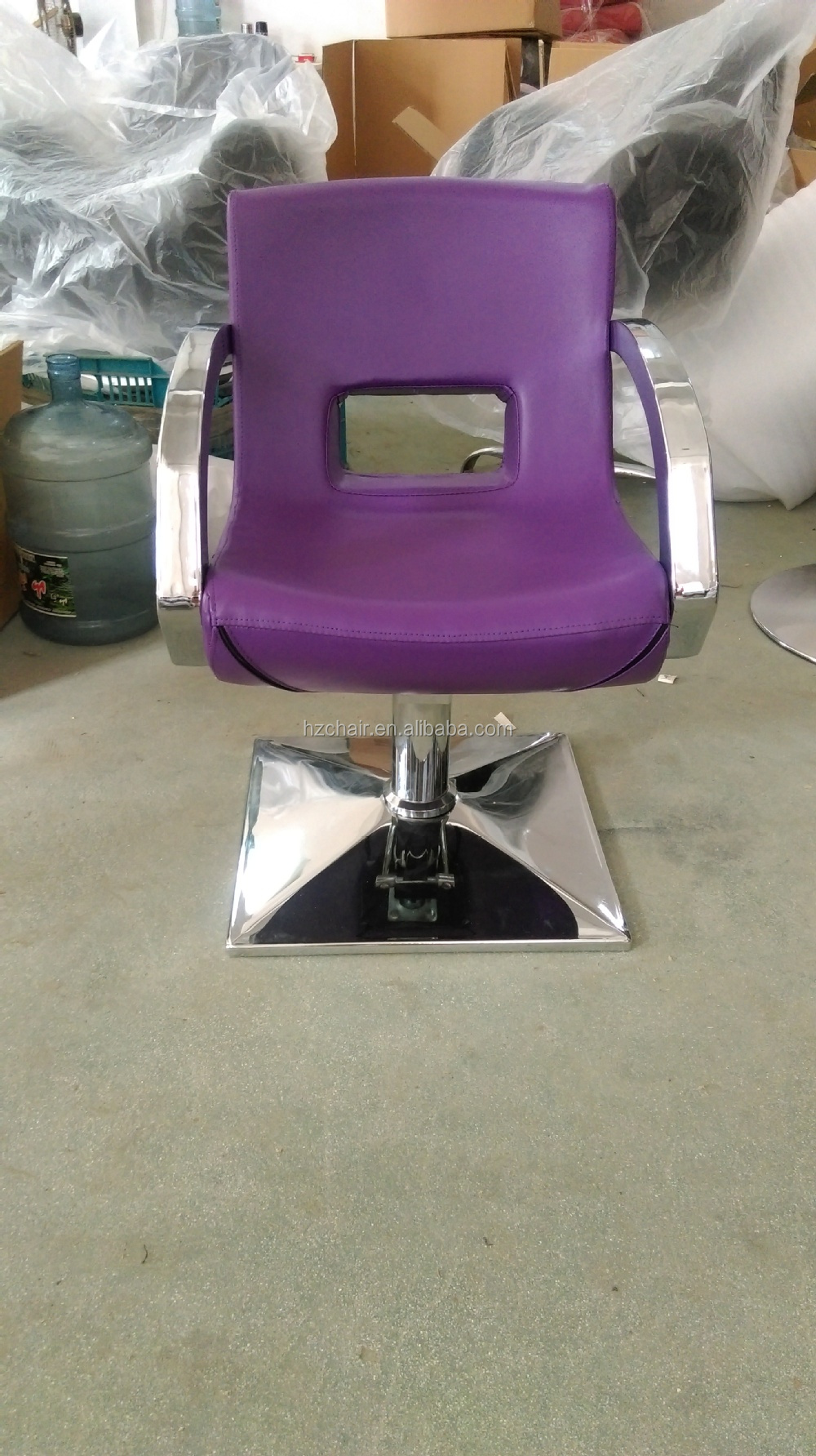 Wholesale 2015 purple hair dryer chairs with shape sponge used salon barber chairs sale cheap - Used salon furniture for sale ...