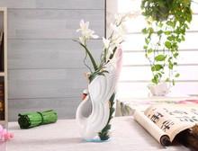 Hot Sale Chinese Style Swan Pattern Ceramic Vase