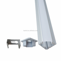 2016 new design led triangle aluminum profile with diffuser Cover for kitchen cabinet