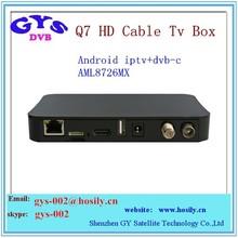 Q7 HD dual core dvb-c cable tv box AMLogic AM8726 Mali-400 Gpu AM8726 MX