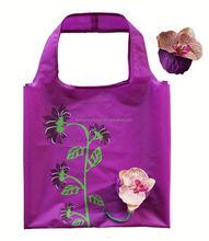 Fashion flower design nylon wholesale tote bag