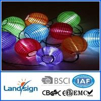 Chinese paper lantern string lights, hanging paper lamp, powerful led solar security light Solar Chinese String Lanterns