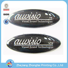 Advertisment promotional Crystal domed 3D clear custom epoxy sticker