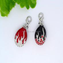 Wholesale pea enamel pendant rhinestone pendant charms