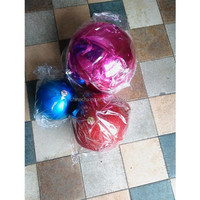 2015 plastic molded outdoor christmas Xmax balls decorations