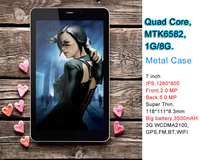 Shenzehn Great Asia Tablet PC built in 3G GSM Phone Call 7 Inch IPS 1280x800 Quad Core MTK6582 1GB RAM 8GB ROM 5MP Camera