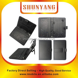 """Black Universal PU Leather Folio Stand Case Cover Tablet keyboard case for 7"""" 8"""" 9"""" 10"""" tablet"""