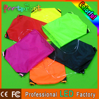 custom produce led light nylon drawstring bag
