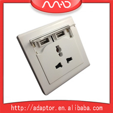 2 usb port universal usb wall socket