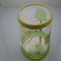 PVC plastic tube tin box with handle