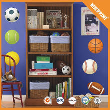Famous epoxy SGS road vehicles football wall stickers for boy