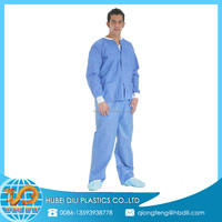 plastic lab coat/lab coat waterproof/fabric material for lab coat