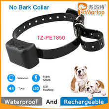 TZ-PET850 Waterproof& Rechargeable Anti-Bark No bark Training/Dog Shock collar