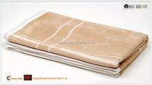 Plain smooth wool silk airline blanket throw