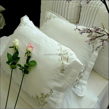 High quality 100% cotton lace Embriodery pillowcase