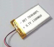 803048 1200mah 3.7v rechargeable lithium polymer battery