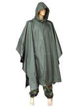 Army Green PVC Rain Poncho For Men