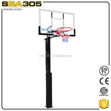 inground basketball standard height adjustable stand