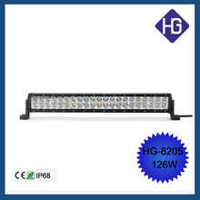 Factory price double row 42w*3pcs IP 67 led light bar 126w 20inch car