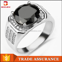 2015 selling well in Saudi Arabia pave setting zircon stone platinum 925 silver men engagement ring price