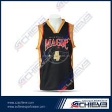 Custom team basketball shooting wear/ Sublimation basketball shirts